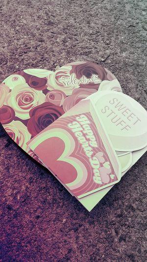 Valentine's Day  Love♡ Card Heart Box Of Chocolates