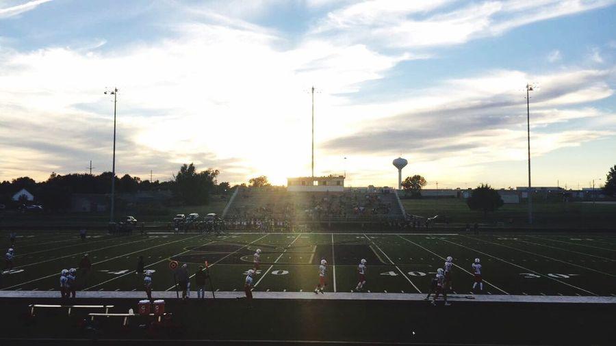 Ninth Grade football game tonight! It was beautiful!