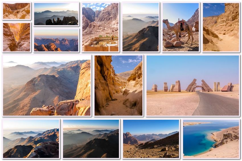 Egypt pictures collage of different famous locations landmark of Sinai Peninsula, Africa. Collage Collages Egypt Landmarks Ras Mohammed Sinai Peninsula Aerial View Allah Door Backgrounds Beauty In Nature Collage Collection Day Desert Beauty Digital Composite Egyptian Isolated White Background Landmak Location Mountain Multiple Image Nature No People Outdoors Sand Sinai Sinai Egypt Sky Variation Window
