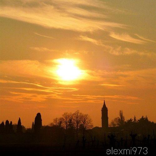 Bubano Bologna Italy Tramonto oro sunset gold ita alexmi973