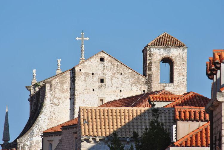 Exterior of  church building against clear sky