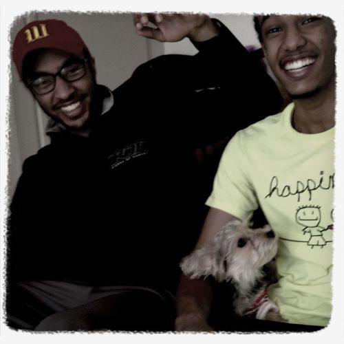 My brother and #Rufus