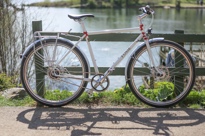 Bicycle Mode Of Transport Lifestyles Outdoors Day United Kingdom Handmade Craftmanship England Reynolds Daventry Northamptonshire Fosse Framesets Steel Hand Built 525 Citybicycle