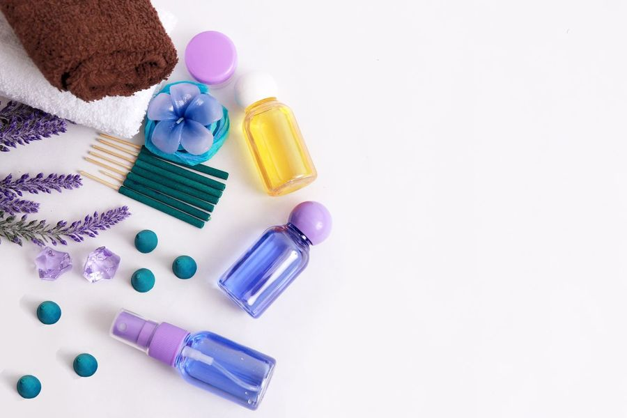 ❤️😊🌺🍃 Multi Colored Still Life Variation Studio Shot White Background Purple No People Choice Day Bottle Body Care Aromatherapy Oil Spa Day  Spa Massage EyeEm Best Shots EyeEm Gallery EyeEmNewHere Eyeem Market Close-up Flower Aromatherapy Lavender Colored Time