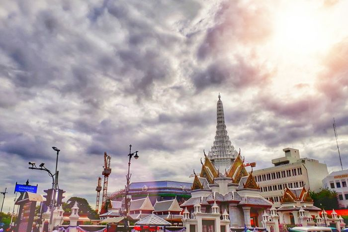 Bangkok Thailand. City Place Of Worship Religion Cityscape Sunset Business Finance And Industry Amusement Park Sky Architecture Temple - Building Buddhism