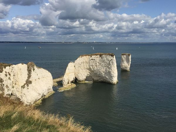 Old Harry Rocks Water Sea Cloud - Sky Sky Scenics - Nature Beauty In Nature Rock Tranquil Scene Nature Outdoors No People
