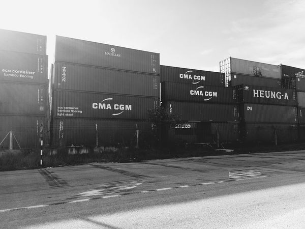 Containers Ships⚓️⛵️🚢 Port Containership Colorful Black & White