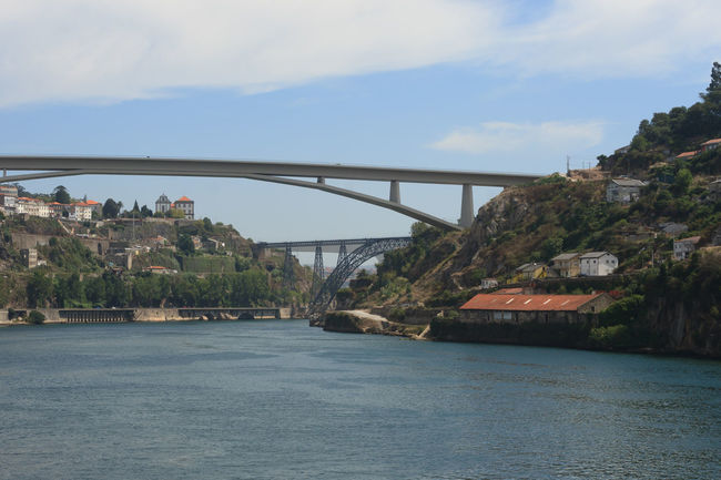 Porto View Architecture Building Exterior Built Structure City Cityscape Day Douro  Luis I Bridge, No People Outdoors Ponte Luis I Port Houses Porto Portugal River Sky Town Travel Destinations View Water