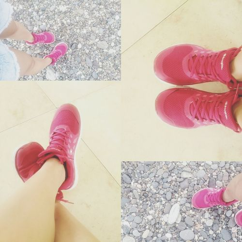 First Eyeem Photo Beauty In Nature Outdoors pink shoes High Angle View champion Philippines ❤️