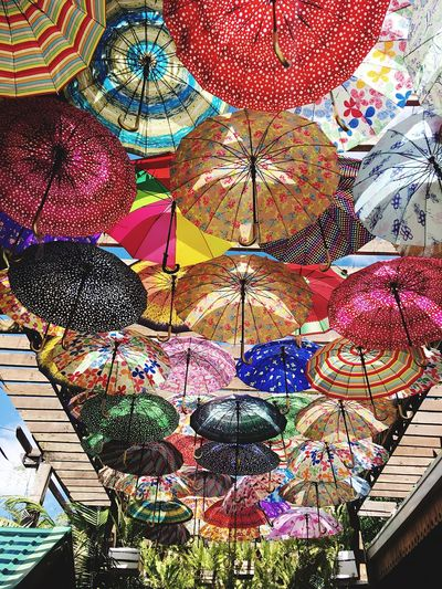 Let's create our own sunshine. 😍☂️ Hanging Variation Multi Colored Lighting Equipment Retail  Market No People Built Structure Low Angle View Outdoors Day Eyeem Philippines EyeEm Gallery