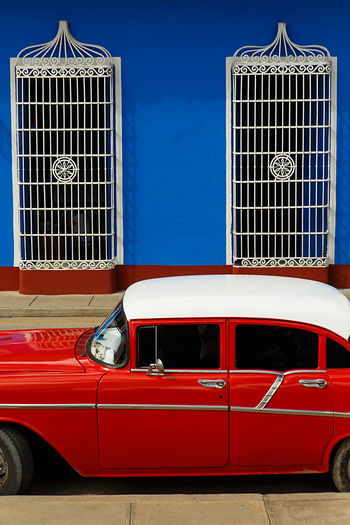 red car parked
