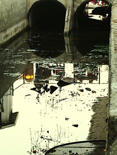 Urban Decay Flood Reflection Sewage Bridge - Man Made Structure Wet Architecture Standing Water