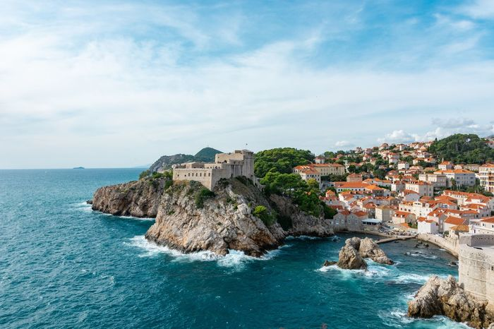 King's Landing in reality Dubrovnik King's Landing Water Building Exterior Built Structure Architecture Sky Cloud - Sky Building City Land Beach Outdoors No People