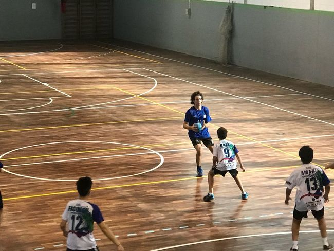 Forza azzurri Handball Match Sport Competition Group Of People People Lifestyles Athlete Motion Healthy Lifestyle Exercising Playing Practicing Sportsman Competitive Sport Sports Team Sports Uniform Court Clothing