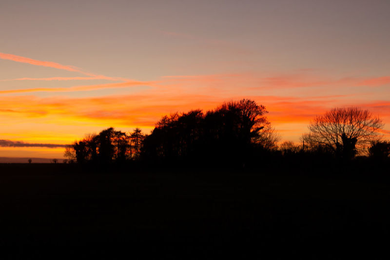Sunset Silhouette Sky Tranquil Scene Tranquility Landscape Beauty In Nature No People Outdoors Dusk Orange Color