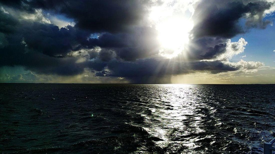 First Eyeem Photo Sea And Sky Sea Sky Clouds Clouds And Sky Sun Sea Sky Clouds Reflections In The Water Zon Zee Reflectie Lichtspel Lauwersmeer