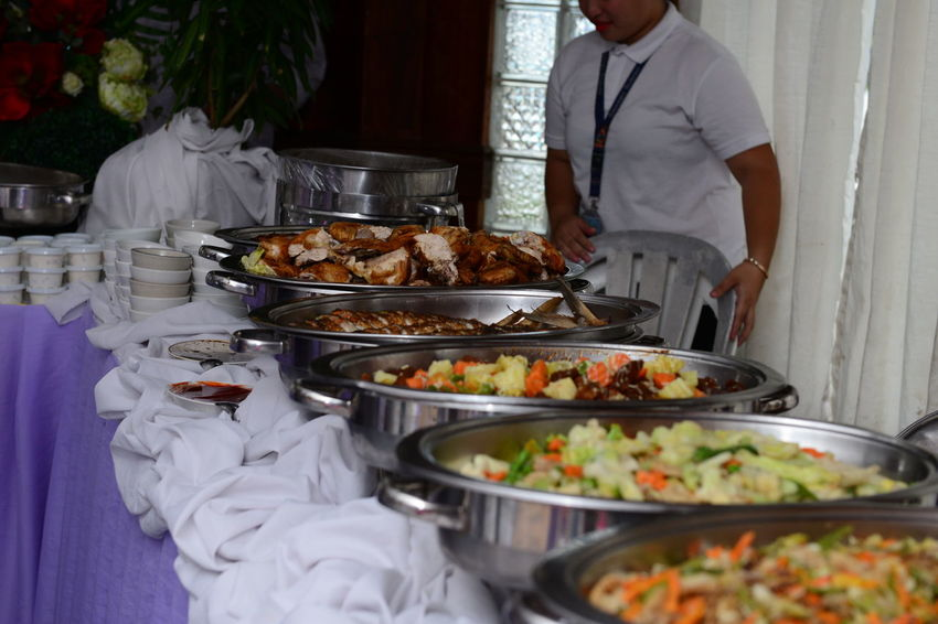 Catering services on christening day Christening Catering Catering Food Catering Service Christening Day Food Food And Drink Freshness Meal Occupation Plate Preparation  Service Table
