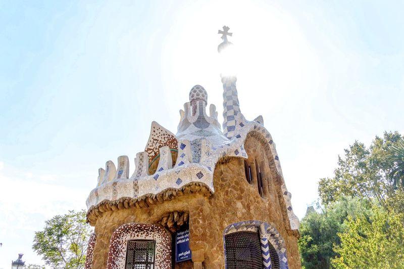 Gaudí's masterpiece, Spain Windows Art Barcelona SPAIN Gaudi Art Nouveau Liberty Colorful Park Guell Parc Guell Architecture Sculpture Statue Sky Architecture Historic Ancient Civilization My Best Photo