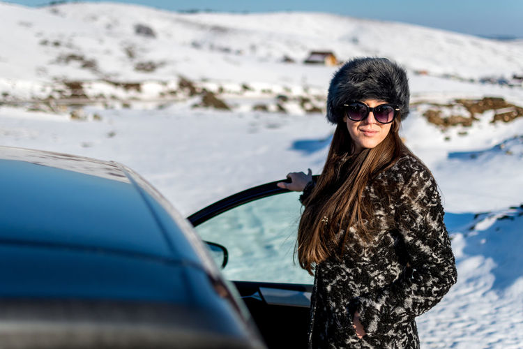 Car Glasses Fashion Transportation Sunglasses Motor Vehicle Mode Of Transportation One Person Portrait Young Adult Clothing Adult Lifestyles Travel Leisure Activity Young Women Smiling Hair Hairstyle Beautiful Woman Outdoors