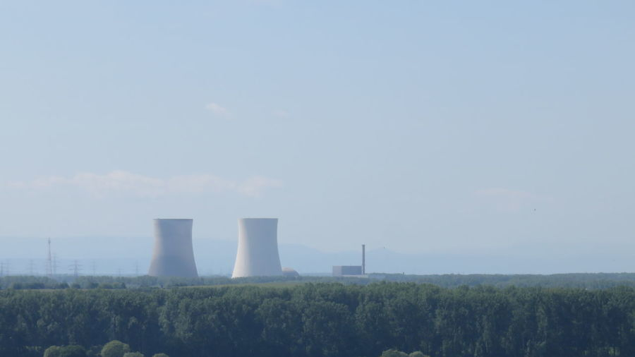 nuclear power plant view from the cathedral speyer Atomic Dangerous Energy Germany Nuclear Power Plant Radiation Radioactive Reactor Speyer Station