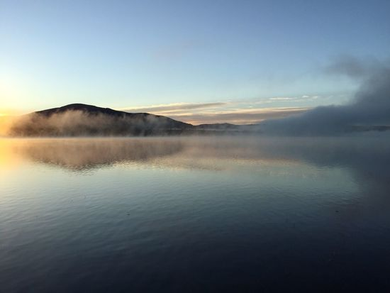 Water Water Reflections Water_collection Sunrise Serenity Nature Landscapes With WhiteWall Nature Photography Landscape Landscape_Collection Shin Pond Maine Serene Spiritual Spirituality Majestic Placid  Fog Foggy Foggy Morning Clouds And Sky Mountains Mountain Maine New England  Reflection Sunrise And Clouds