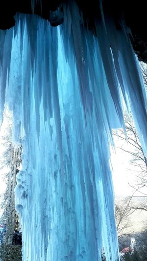Frozen Waterfall Winter Nature Outdoors Cold Temperature Ice Blue Iceblue Beauty In Nature No People Breathtaking Naturephotography