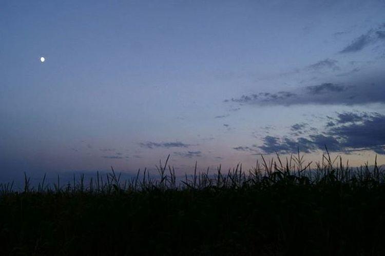 Sunset Sunset Slowakia Moon Clouds