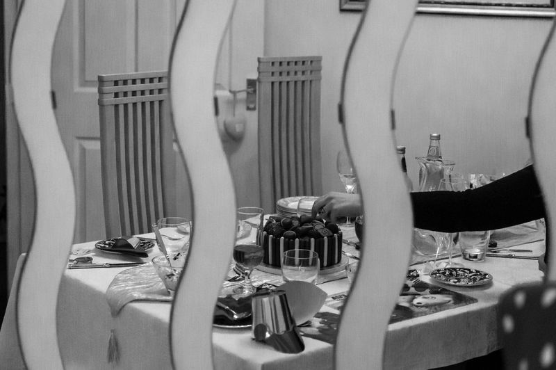 Arm Black And White Blackandwhite Cake Chocolate Food And Drink Glass Home Indoors  Meal Mirror Monochrome No One Is Looking One More Reflect Reflection Reflections Shiny Still Life Table Temptation
