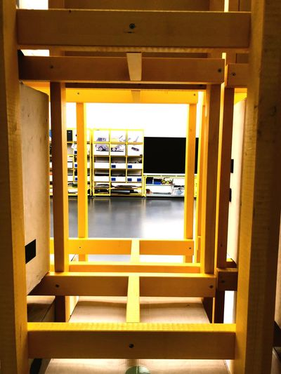 Pattern Rectangle Shape Pattern Rectangular Frame Wood - Material Wooden Structure Viewpoint Yellow Built Structure Indoors  Architecture No People Home Interior Domestic Room Day