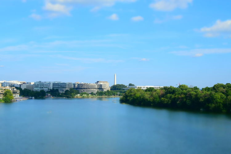 I live near washington d.c I gotta go down there more. Ugh im so lazy. Architecture Blue Building Exterior Built Structure City City Life Cloud Cloud - Sky Coastline Day Nature No People Outdoors Scenics Sea Sky Skyscraper Tall Tranquil Scene Tranquility Water Waterfront