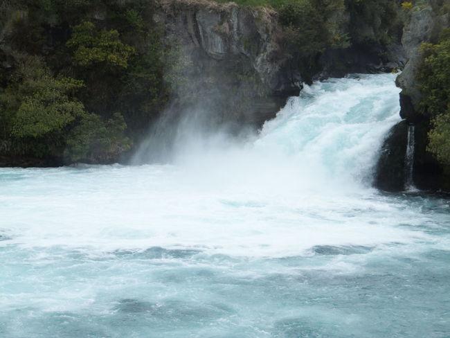 Water Waterfall Taupo New Zealand Huka Falls Waikato River