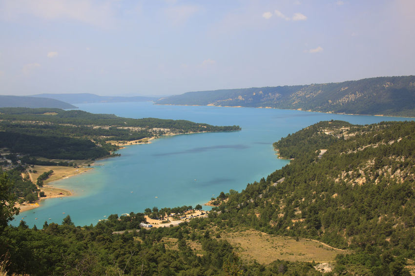 Lac de Sainte Croix - Provence, France Beauty In Nature Blue Calm Day Europe Flowers France High Angle View Landscape Lavander Nature Non-urban Scene Provence Remote Scenics Sea Senanque Sky Sun Tranquil Scene Tranquility Tree Valensole Verdon Water