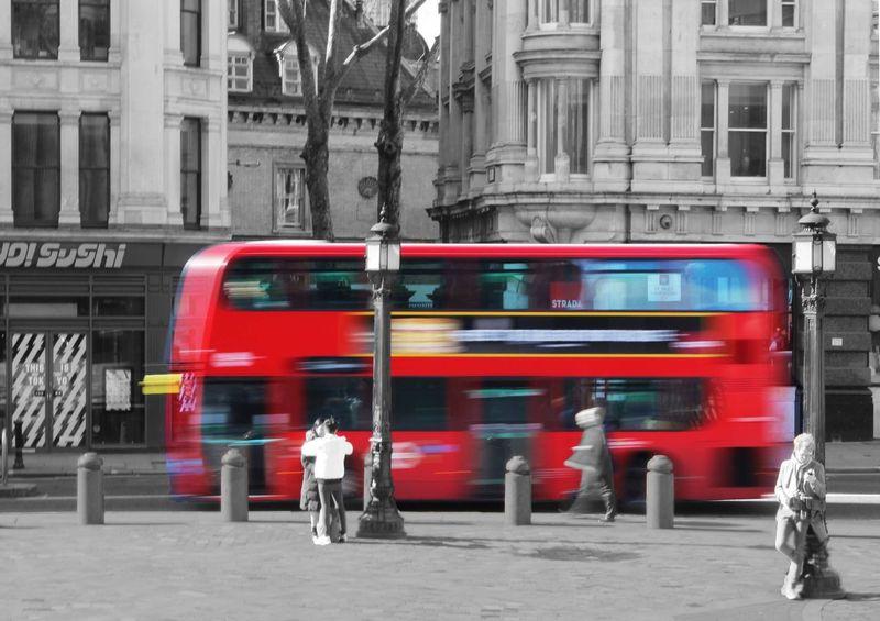 London Red Bus Colour Splash