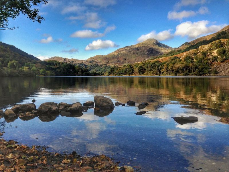 Reflection Mountain Lake Beauty In Nature Landscape Mountain Range Nature Water Scenics Snowdonia National Park Snowdon Snowdonia Mountains Landscape_photography Landscape_Collection EyeEm Nature Lover Nature_collection Beauty In Nature Tranquil Scene Mountain View Wales Betterlandscapes