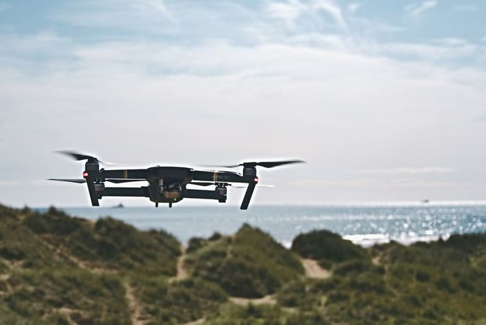 Mavic Pro Flying Air Vehicle Mid-air Outdoors Sea Drone  Mavic Mavic Pro DJI Mavic Pro Dji Water No People Technology Blue Nature Photography Themes Day Sky Aberdeenshire Balmedie Beach Scotland Balmedie
