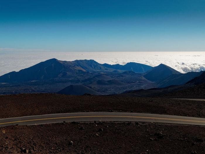 Haleakala Crater in Maui Haleakala Maui Beauty In Nature Clear Sky Horizontal Symmetry Landscape Mountain Physical Geography Volcanic Landscape Volcano
