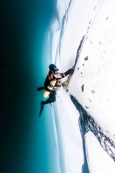 Baikal under Ice Adventure Baikal Blackandwhite Cold Dark Drysuit Ice RISK Russia SCUBA Scuba Diving Underwater White Winter The Great Outdoors - 2018 EyeEm Awards