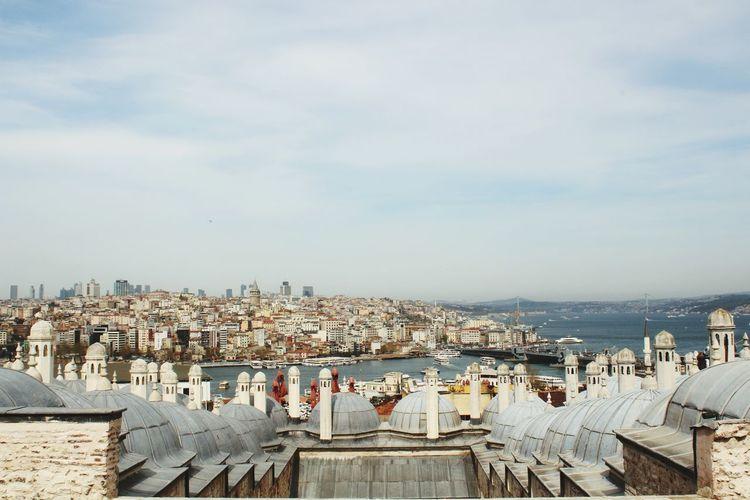 İstanbul Istanbul Suleymaniye Galata Sea Sky City Cityscape Water Sea Nautical Vessel Beach High Angle View Sky Architecture Horizon Over Water