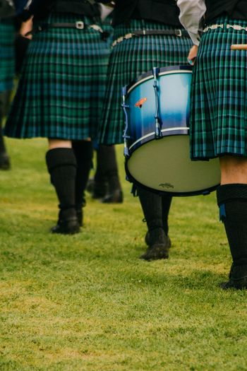 Scotland Marching Piperband Drums Inveraray