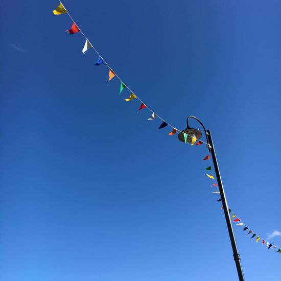 No filter! Just out in the town snapping away. Flags Bunting Party Check This Out Hello World Taking Photos Showcase April Blue Sky Blue No Filter, No Edit, Just Photography Nofilter The Great Outdoors - 2017 EyeEm Awards