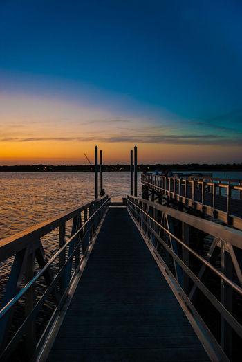 Cool x Warm Sunset Silhouette Water Reflections EyeEm Charleston