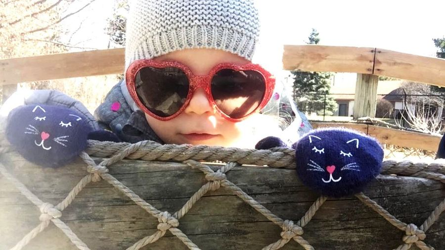 Our Joy 💓💓peek a boo 👻 I see👀 you spring is here eyeemphoto Spring Is Here Eyeemphotography EyeEm Best Shots Happy Happiness Five Blessed  Blessings Happy Joyful Moments Joyful Joy Sunglasses Child Childhood Glasses Fashion One Person Headshot Portrait Outdoors