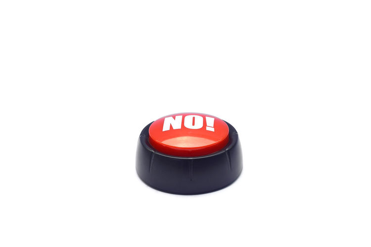 NO button on