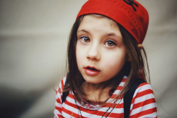 OH DEAR...| Girl EyeEm Gallery EyeEm Best Edits EyeEm Best Shots Portrait Of A Woman Costume Pirate Cute Closeup Portrait Red People One Person Only Women Looking At Camera Headshot One Young Woman Only Human Face Beauty