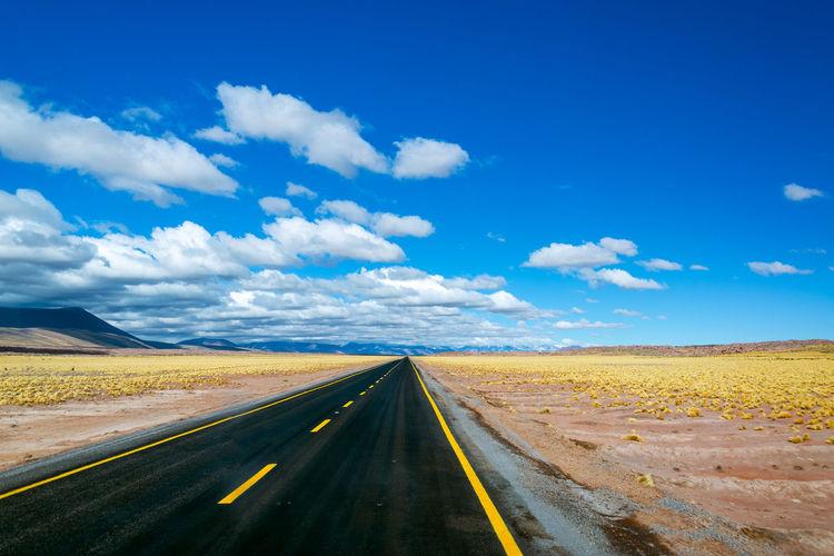 Empty Road Against Sky At Desert