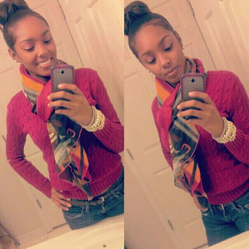 polo sweater & scarf kind of day ,