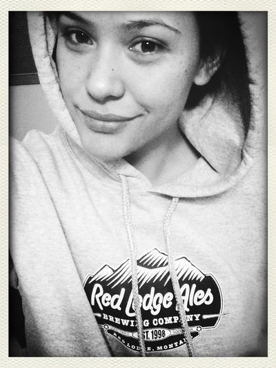 I won this hoodie last night, and I look like a 12 year old boy without makeup on...