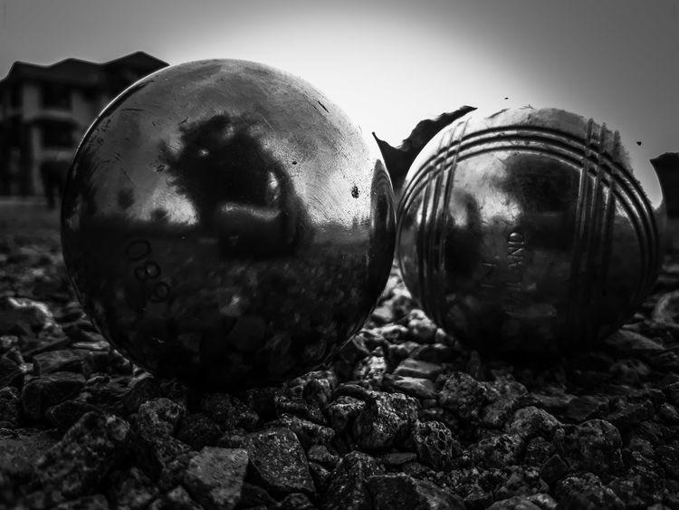 Close-up Boule Pétanque Balls