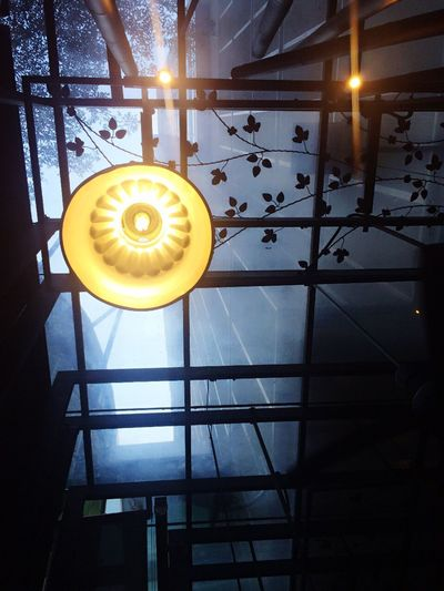 Different perspective leads to different kind of life Illuminated Window Indoors  Close-up Yellow Geometric Shape Lit