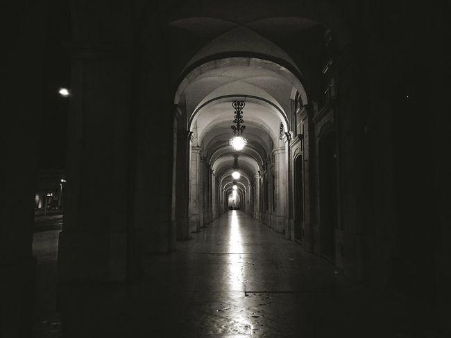 Lisbon Night Nightphotography Blackandwhite Black And White Black & White